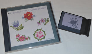 JANOME Embroidery Card No. 122 - GOBELIN STITCH FLORAL