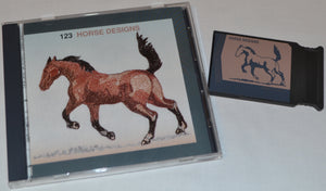 JANOME Embroidery Card No. 123 - HORSE DESIGNS