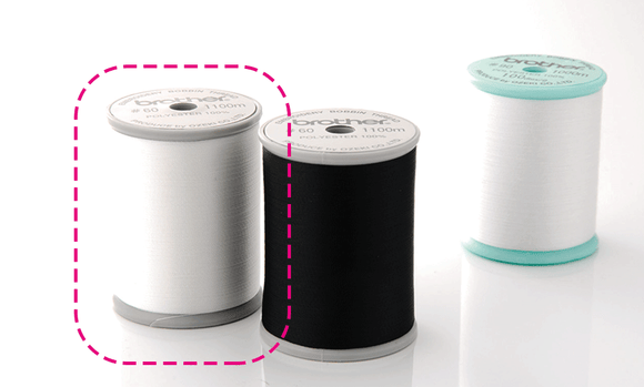 BROTHER White EBTCEN  (Grey spool) Bobbin Thread - for Combination Sewing/Embroidery Machines