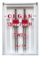 ORGAN Sewing Machine Needles Twin 70/1.4
