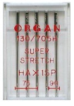 ORGAN Sewing Machine Needles Super Stretch Assorted (Ideal for Overlockers)