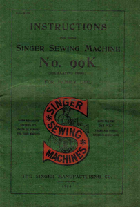 Singer 99K Instruction Manual (.pdf Download)