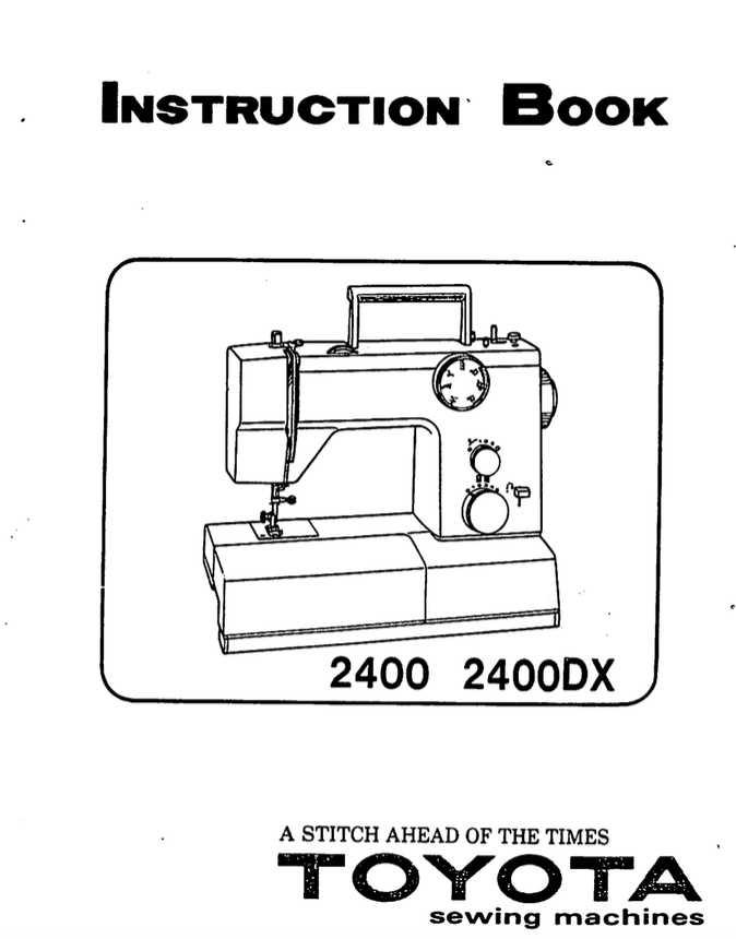 TOYOTA 2400 (2400DX) Instruction Manual (Download