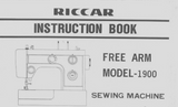 Riccar 1900 Instruction Manual (Printed)