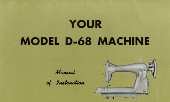 Jones D-68 Instruction Manual (Download)