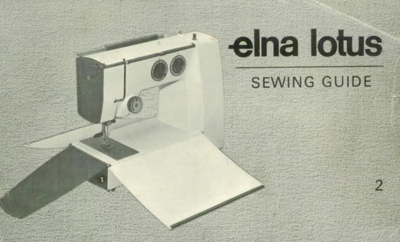 ELNA Lotus Sewing Guide (Printed)
