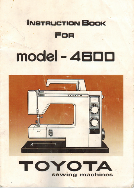 TOYOTA Model 4600 Instruction Manual (Printed)