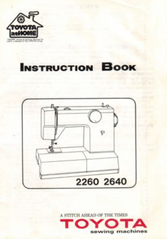 TOYOTA Model 2260 & 2540 Instruction Manual (Printed)
