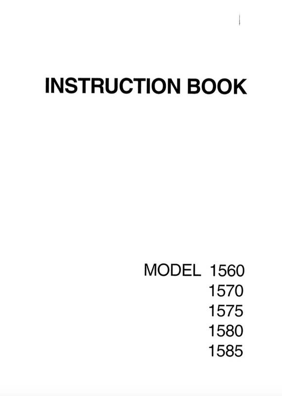NEW HOME 1560,1570,1575,1580,1585 INSTRUCTION MANUAL (Printed)