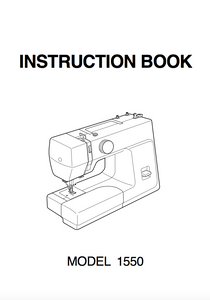 NEW HOME 1550 INSTRUCTION MANUAL (Printed)