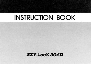 NEW HOME EZY Lock 304D Overlocker Instruction Manual (Download)