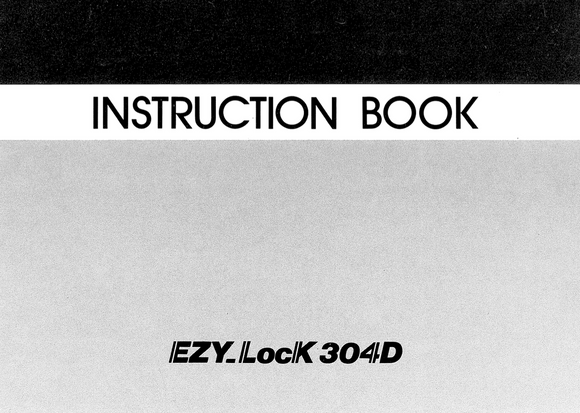 ELNA EZY Lock 304D Overlocker Instruction Manual (Printed)