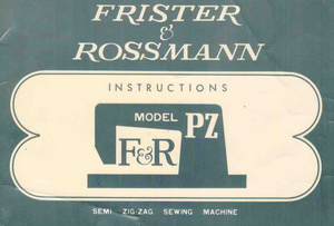 FRISTER + ROSSMANN Model PZ Instruction Manual (Download)