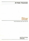 FRISTER + ROSSMANN Star 90, 100, 102 & 104 Instruction Manual (Printed)