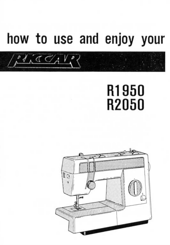 Riccar Model 1950 & 2050 Instruction Manual (Download)