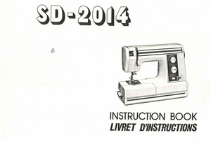 NEW HOME SD-2014  IInstruction Manual (Download)