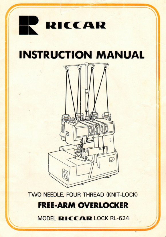 RICCAR Lock RL-624 Overlocker Instruction Manual (Printed)