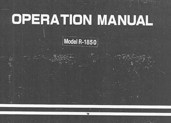 TOYOTA 1850 Instruction Manual (Download)