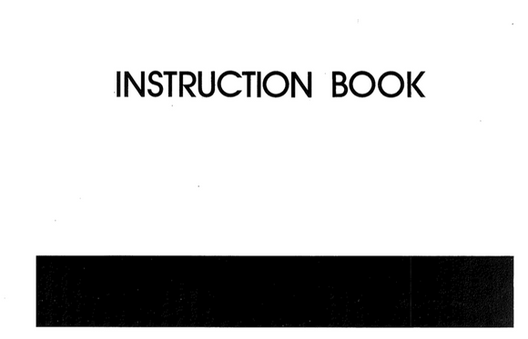 MY LOCK 103 Overlocker Instruction Manual (Printed)