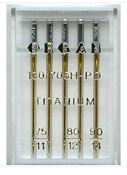 ORGAN Sewing Machine Needles Titanium Assorted