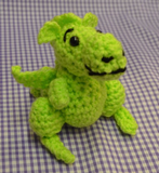 BORIS THE DRAGON Crochet Pattern By Sue Taylor (Download)