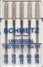 Schmetz Sewing Machine Needles Universal Size 90(14)