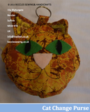 CAT CHANGE PURSE Pattern By Sue Taylor (Download)