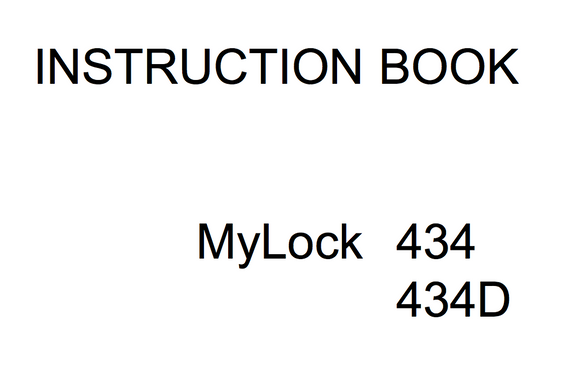 MY LOCK 434 & 434D Overlocker Instruction Manual (Printed)