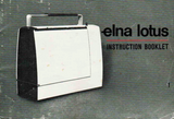 ELNA Lotus SP Instruction Booklet & Sewing Guide (Download)
