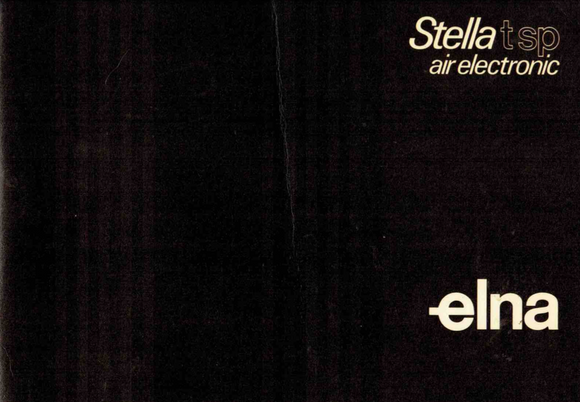 ELNA Stella TSP-Air Electronic Instruction Manual (Download)