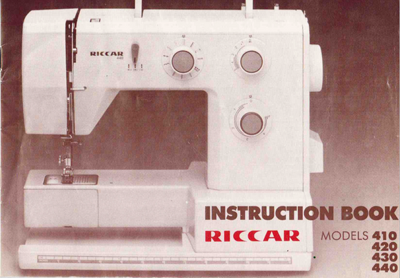 RICCAR 410, 420, 430 & 440 Instruction Manual (Download)