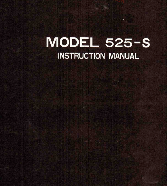 RICCAR 525 (525-S) Instruction Manual (Printed)