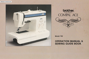 BROTHER Compal Ace (765) Instruction Manual (Printed)
