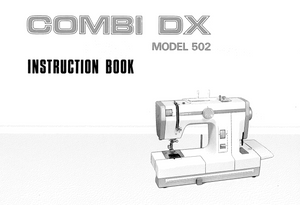 JANOME Combi DX (502) Instruction Manual (Download)