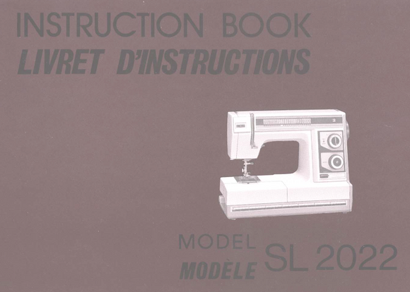 NEW HOME SL2022 Instruction Manual (Printed)