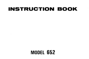 NEW HOME My Style 16 (Model 652)  IInstruction Manual (Printed)