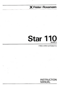 FRISTER + ROSSMANN Star 110 Mark II Instruction Manual (Download)