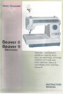 FRISTER + ROSSMANN Beaver 8 & 9 Instruction Manual (Printed)