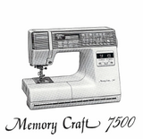 NEW HOME Memorycraft 7500 Instruction Manual (Printed)