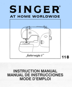 SINGER Featherweight II (118) Instruction Manual (Download)