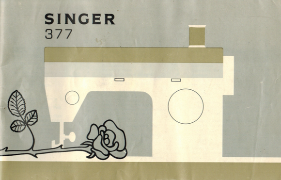 SINGER 377(M) Instruction Manual (printed copy)
