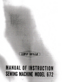 NEW HOME 672 Instruction Manual (Printed)