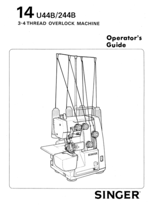 SINGER 14U44B & 14U244B Overlocker Instruction Manual (Download)