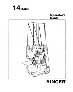 SINGER 14U46B Overlocker Instruction Manual (Printed)