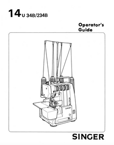 SINGER 14U34B & 234B Overlocker Instruction Manual (Download)