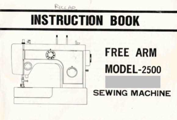 Riccar 2500 Instruction Manual (Download)