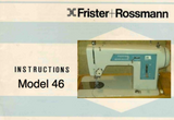 Frister + Rossmann Model 46 Instruction Manual (Printed)