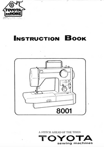TOYOTA 8001 Instruction Manual (Printed)