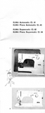 ELNA Models-CI 41, CI 43, CI 62 & CI 64 Sewing Machine Instruction Manual (Printed)