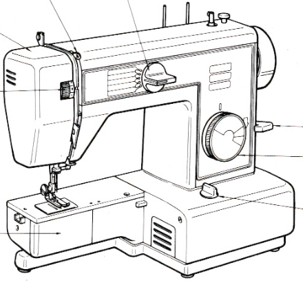 JONES or BROTHER Model VX520 Sewing Machine Instruction
